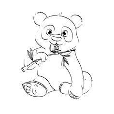 Dibujos Tiernos De Osos Panda Para Colorear E Imprimir Imprimir