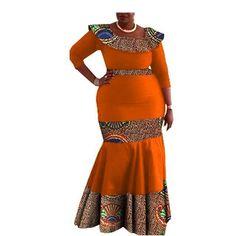 Image of Elegant African print mermaid dress designs three quarter sleeve O-neck ankle-length trumpet women cotton dress African Fashion Dresses, African Dress, Dress Designs, Quarter Sleeve, Traditional Design, Ankle Length, Cotton Dresses, Sleeve Styles, Designer Dresses