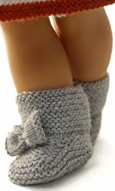 strickanleitung puppenkleider - Herbstmode für Ihre Puppe in rost, grau und weiß
