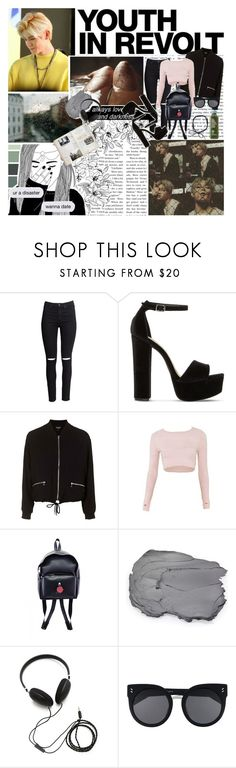 """""""She's a wolf and I like it when she bites me... // Set #384"""" by sammisolace ❤ liked on Polyvore featuring H&M, Steve Madden, Hedi Slimane, Topshop, Capezio, Stila, Molami, STELLA McCARTNEY, taeyong and nct"""