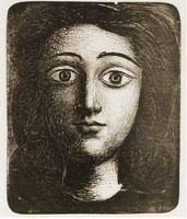 Pablo Picasso. Head girl VI, 1945