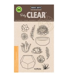 Hero Arts Stamp Your Own Succulents Clear Stamps, 4x6, $17 @ www.joann.com