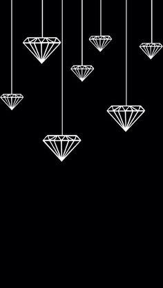 Diamante wallpaper pinterest wallpaper hanging diamonds voltagebd Image collections