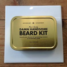 This damn handsome beard kit contains all the essential products needed to help soften, moisturize and style your moustache and beard.The perfect gift for any stylish bearded man who likes to look damn handsome. Men's Society's 'Damn Handsome Beard Kit' c Beard Grooming Kits, Male Grooming, Beard Wax, Men Beard, Types Of Beards, Beard Types, Mens Facial, Facial Hair, Beard Oil And Balm