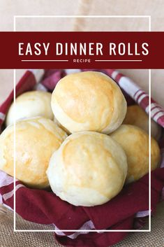 Quick and Easy Dinner Rolls - Grace J. No Yeast Dinner Rolls, Homemade Dinner Rolls, Dinner Rolls Recipe, Healthy Chicken Recipes, Lunch Recipes, Breakfast Recipes, Dinner Recipes, Dinner Ideas, Fun Foods To Make