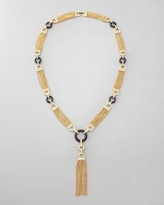 Rachel Zoe Chain Tassel Necklace