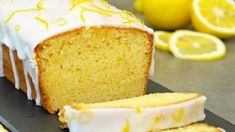 This lemon loaf cake is packed with lemon flavour. It's super moist and soft. The lemon is incorporated in all 3 components of this delicious cake; the loaf . Starbucks Lemon Loaf, Lemon Loaf Cake, Lemon Frosting, Homemade Cheesecake, Cake Youtube, Just Cakes, Pound Cake Recipes, Yummy Cakes, Cupcake Cakes