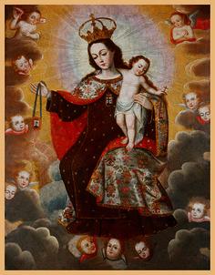"""Escuela Cuzqueña: """"Virgen del Carmen"""""""