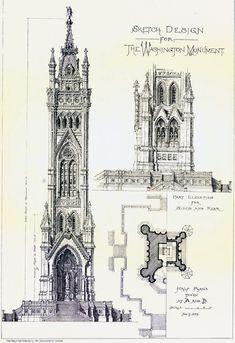 Design proposal for the Washington Monument, Washington D.C.
