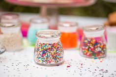 No dessert bar is complete without sprinkles.