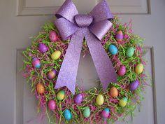 Easy, cheap and CUTE Easter wreath !