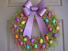 Easy, cheap and CUTE Easter wreath !