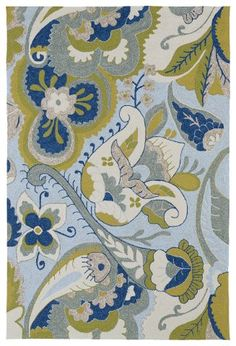 Kaleen Home And Porch 2037-56 Spa Floral Rug - GiiStores.com