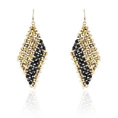 Diag Earrings Gold Plate, $114, now featured on Fab.