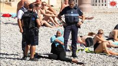 Forcefully French Police Makes Woman Removes Burka On Nice Beach