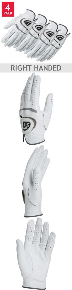 Golf Gloves 181135: Callaway Men S Leather Golf Glove 4-Pack Right Handed Player Worn On Left Hand -> BUY IT NOW ONLY: $31.95 on eBay!