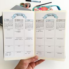 bullet journal future log vertical layout sections for events appointments tasks and birthdays