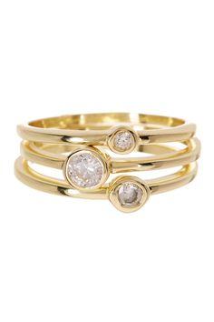 Jupiter Stack Ring Set by Sapanyu on @HauteLook