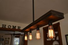 Reclaimed Wood - Chandelier - Light Fixture - Farm Light - Country Lighting…
