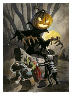 Mike Hoffman Halloween Art Print ~PUMPKINHEAD MAN~!