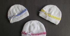 I love making little baby hats - and I know many of you do too - and donate them to hospitals, baby units and charity groups who send them to where they are needed. I knitted these sweet little hats Baby Hat Knitting Patterns Free, Baby Hat Patterns, Baby Hats Knitting, Free Knitting, Knitting Ideas, Crochet Patterns, Free Pattern, Knitted Hats Kids, Knit Hats