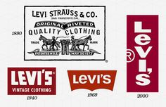 Levi's Year Company Founded: 1850 Year Logo Introduced: 1890's Logo Designer: Landor Associates (1967, 1969) Company Founder: Levi Strauss The Levi's logo today exists in two forms: the simple white logotype on a red background and the Two Horses logo, which dates back to the foundation of the company in 1886. The Two Horses logo is, to this day, used on the patches of Levi's jeans, in its original form, which was supposed to demonstrate the strength of Levi's jeans. However, the now equally…