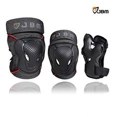 BMX Protective Gear - JBM BMX Bike Knee Pads and Elbow Pads with Wrist Guards Protective Gear Set for Biking Riding Cycling and Multi Sports Safety Protection Scooter Skateboard Bicycle Rollerblades ** Want additional info? Click on the image.