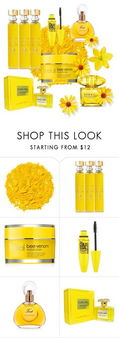 """""""Amarelo"""" by megeller on Polyvore featuring beauty, Illamasqua, Acqua di Parma, Rodial, Maybelline, Van Cleef & Arpels, Jean Patou and Versace"""