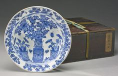A blue and white 'Floral' basin, Late Ming dynasty, circa 1620s
