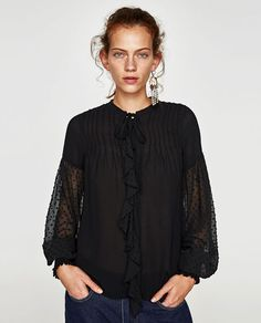 BLOUSE WITH FULL SLEEVES from Zara