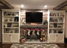 35 Awesome Farmhouse Fireplace Design Ideas To Beautify Your Living Room. The fireplace may belong to one of the critical items to be set up in the inside of the home. Fireplace Built Ins, Farmhouse Fireplace, Fireplace Design, Fireplace Ideas, Fireplace Bookshelves, Shiplap Fireplace, Bookcases, Rustic Farmhouse, Believe