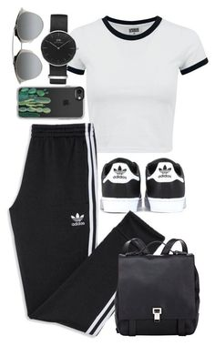 A fashion look from December 2017 featuring white t shirt, black shoes and day pack backpack. Browse and shop related looks. Lazy Outfits, Cute Swag Outfits, Teen Fashion Outfits, Sporty Outfits, Teenager Outfits, Mode Outfits, Dance Outfits, Trendy Outfits, Summer Outfits