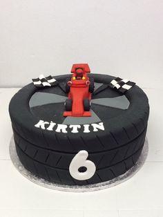 A Formula 1 cake for Kirtin's 6th birthday! - Belle's Patisserie