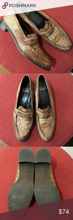 Stuart Weitzman python loafers Genuine leather,  excellent condition Stuart Weitzman Shoes Flats & Loafers