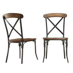 HomeSullivan Cabela Bistro Wood and Metal Dining Chair in Distressed Ash (Set of at The Home Depot - Mobile Black Metal Dining Chairs, Dining Chair Set, Dining Room, Wood Patio, Chair Types, Kitchen Chairs, Chairs For Sale, Colorful Furniture, Chair Pads