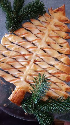 Salmon and puff pastry Christmas tree