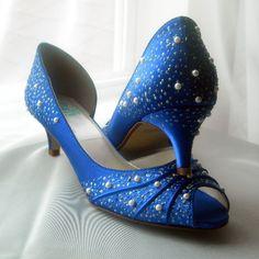 Lace wedding shoes peep toe kitten heels by beccaandlouise on Etsy ...