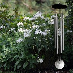 Crystal Meditation Chime.  This windchime's crystal accents and soothing sounds can be a focal point for meditation. #windchimes