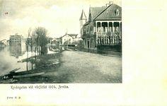 Värmland Arvika Kyrkogatan vid vårflödet 1904 Utg C.P.