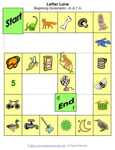 Letter Lane is a fun, free phonemic awareness game that features beginning sounds. Use this colorful game board and our easy directions for an engaging learning activity!