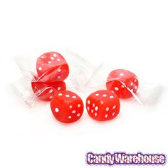 Dice Lollipops - Red: 24-Piece Box   CandyWarehouse.com Online Candy Store