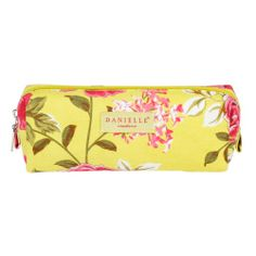 Danielle Creations 'Chelsea' Cosmetic/Pencil Case, £7.00. A summery yellow and pink floral print across hard-wearing fabric. A coordinating 'Danielle' print lining finishes this slim-line style.