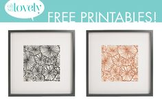 Oh So Lovely: Free Fall floral printables (3 colors to choose from)