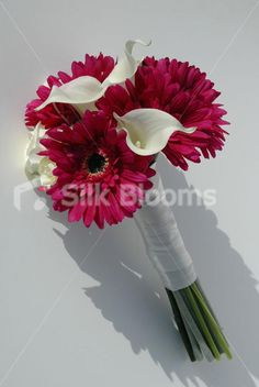 Beautiful Gerbera Bridesmaid Bouquet with Calla Lilies and Roses ...