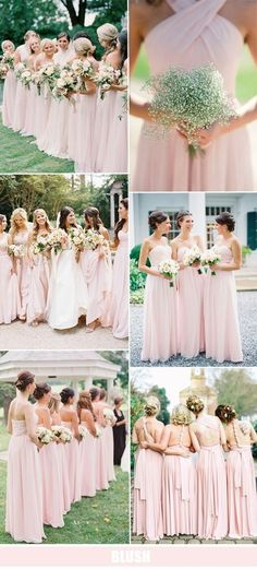 blush pink bridesmaid dresses for 2016 weddings #BridesmaidDresses