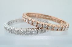 Rose gold #wedding bands are gorgeous! Especially this one Jewelry by Garo.