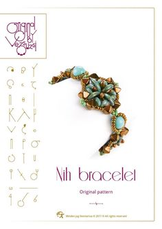 Beading tutorial / pattern Nih bracelet. Beading instruction in PDF – for personal use only by beadsbyvezsuzsi on Etsy