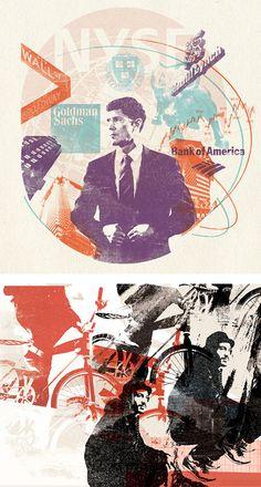 Collage Illustrations by Miles Donovan | Inspiration Grid | Design Inspiration