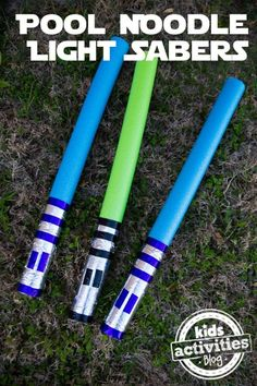Play Ideas with Pool Noodles: Light Sabers by adriana