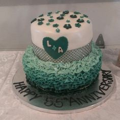 My Aunt and Uncles 55th Emerald wedding Anniversary Cake